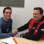 Jamie van Sikkelerus in 2019 voor Racedays Honda in het FIM Supersport Kampioenschap
