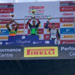 Jaimie van Sikkelerus pakt eerste podiumplaats in het British Supersport Kampioenschap in Donington Park